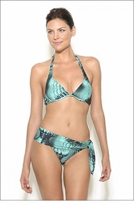 Lenny Niemeyer Printed Underwire Halter with Sash Bottom