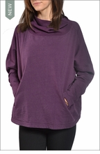Long Sleeve Boxy Cropped Sweatshirt (Concord Grape) by Hardtail