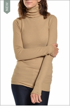 Long Sleeve Thermal Turtleneck (Camel) by Hardtail