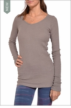 Long Sleeve V-Neck Thermal (Nickel) by Hardtail