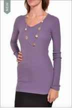 Long Sleeve V-Neck Thermal (Thistle) by Hardtail