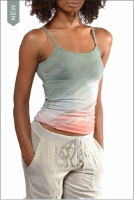 Long spaghetti tank with Bra (586, Tie-Dye DRH8) by Hardtail