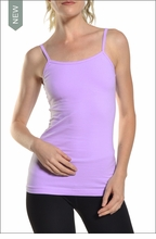 Long spaghetti tank with Bra (Lavender) by Hardtail