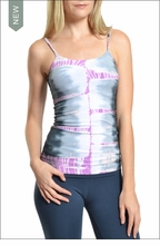 Long spaghetti tank with Bra (Tie-Dye RSK5) by Hardtail