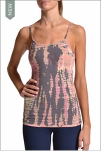 Long Tank w/Bra (Pink Lizard Tie-Dye) by Hardtail