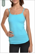 Long Tank w/Bra (Surf Blue) by Hardtail