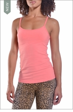 Long Tank with Bra (Coral) by Hardtail