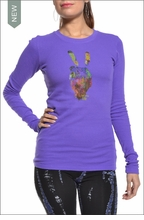 Love is Life : Hand of Peace Thermal (Eggplant)