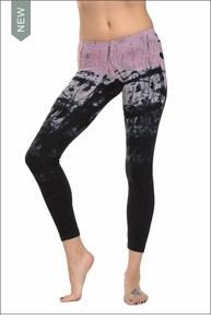 Low Rise Ankle Legging (Bubble Gum Tie-Dye) by Hard Tail Forever
