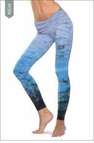 Low Rise Ankle Legging (Caspian Sea Tie-Dye) by Hard Tail Forever