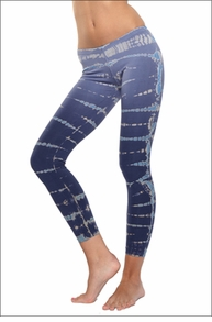 Low Rise Ankle Legging (Moody Blue Lizard Tie-Dye) by Hard Tail Forever