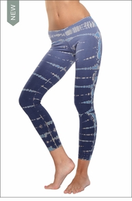 Low Rise Ankle Legging (Moody Blue Lizard Tie-Dye) by Hardtail