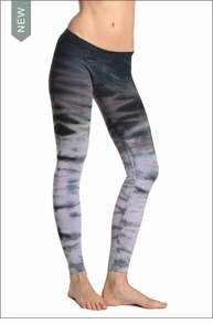 Lowrise Ankle Legging (Dark Rainbow Horizon) by Hard Tail Forever