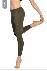 Lowrise Ankle Legging (Olive) by Hard Tail Forever