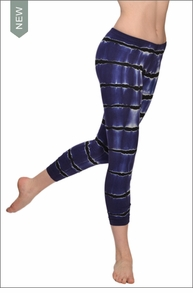 Lowrise Ankle Legging (Rip-tide tie-dye) by Hard Tail Forever