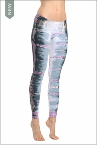 Lowrise Ankle Legging (Tie-Dye RSK5) by Hard Tail Forever