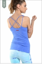 Open Back X-Trainer Tank w/ Bra (Hazy Morning Glory) by Hardtail
