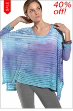 Oversized Holey Jersey Raglan (Beach Sky Tie-Dye) by Hard Tail Forever