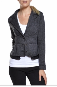 Peplum Jacket (Dark Gray) by Hardtail