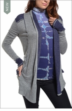 Pocket Cardigan (Heather Gray) by Hardtail Forever