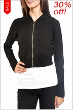 Quilted Cropped Jacket (Black) by Hard Tail Forever