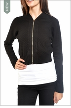 Quilted Cropped Jacket (Black) by Hardtail
