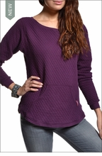 Quilted Kangaroo Sweatshirt (Concord) by Hardtail