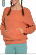 Raglan Sweatshirt (Coral) by Hardtail