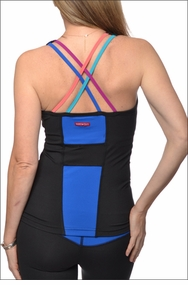 Rainbow Criss Cross Tank (Black) by Hardtail