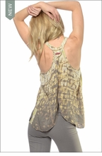 Rayon Voile Fly Away Tank (Tie-Dye BFW2) by Hardtail