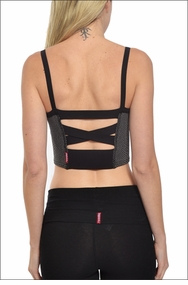 Reptile Sports Bra (Gray) by Hardtail