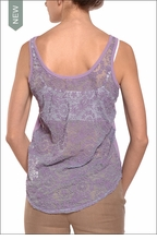 Reversible Lace Tank (Thistle) by Hardtail