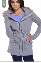 Ribbed Cozy Jacket (Heather Gray) by Hardtail