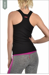 Ribbed Racer Tank (Black) by Hardtail