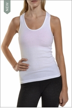 Ribbed Racer Tank (White) by Hardtail