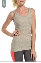 Ribbed Skinny Tank (Heather Gray) by Hardtail