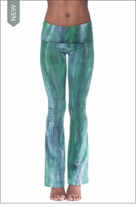 Roll Down Boot Leg Pants (330, Tie-Dye BAM2) by Hard Tail Forever