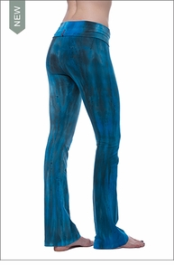 Roll Down Boot Leg Pants (330, Tie-Dye BAM3) by Hard Tail Forever