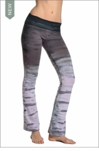Roll Down Boot Leg Pants (Dark Rainbow Horizon) by Hard Tail Forever