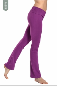 Roll Down Boot Leg Pants (Orchid) by Hard Tail Forever