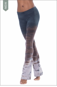 Roll Down Boot Leg Pants (330, Tie-Dye RH38) by Hard Tail Forever
