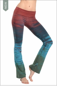 Roll Down Boot Leg Pants (Sedona) by Hard Tail Forever