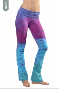 Roll Down Boot Leg Pants (Tie-Dye RDH4) by Hard Tail Forever