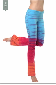 Roll Down Boot Leg Pants (Tie-Dye RH41)
