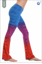 Roll Down Boot Leg Pants (Tri-Brite Tie Dye) by Hard Tail Forever