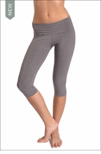 Roll Down Knee Legging (Charcoal) by Hardtail