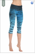 Roll Down Knee Legging (Deep Sea Ombre) by Hard Tail Forever