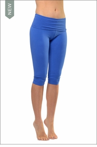 Roll Down Knee Legging (Iris) by Hard Tail Forever