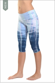 Roll Down Knee Legging (Pastel Lizard Tie-Dye) by Hardtail