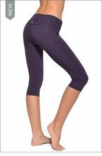 Roll Down Knee Legging (Purple Rain) by Hardtail